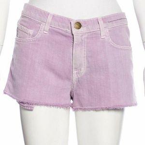 Current/Elliott Light Purple Mini Jean Shorts